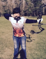 Taking aim with her bow, Jacqueline Cansler is a Huntington archer who won her class last month at the 3D Indoor World Championship, which is the biggest event of the season in indoor archery. A teacher at Huntington North High School, Cansler is hoping to share her interest in the sport with students through an archery team that she recently started up.