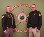 Chris Newton (left) and Chad Hammel are the new sheriff and chief deputy, respectively, of the Huntington County Sheriff's Department. Newton takes over the sheriff's role from Terry Stoffel, whom he served under for eight years as chief deputy of the sheriff's department.