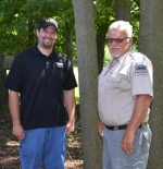 Nate Schmalzried (left) is the new assistant property manager at Roush Fish and Wildlife Area. He'll be working with Property Manager Jeff Reed (right).