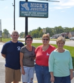 Jim Drabenstot (with wife Dana) and his sisters Jean Anne Bailey and Nancy Bonebrake (from left) operate Nick's Junction, Nick's Kitchen and Nick's Country Café respectively.