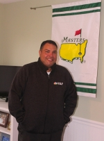EJ Carroll, of Huntington, stands by a flag for The Masters, one of the most famous golf tournaments in the world, which is held annually at Augusta National Golf Club, in Augusta, GA. In April, Carroll got to fulfill a lifelong dream and go to Augusta National, working in security at The Masters.
