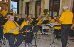 The Huntington Erie Community Band, directed by Thaine Campbell, performs prior to the traditional Memorial Day ceremony on May 30 at the Huntington County Courthouse. In celebration of its centennial season, the band will perform an anniversary concert on July 12 featuring several pieces of music written specifically for the Erie Band over the years.