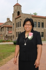 """Sister Guadalupe """"Lupita"""" Aguilar Huanca made her final vows as a member of Our Lady of Victory Missionary Sisters on July 22."""