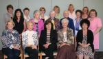 Current members of Huntington's First Mothers Club pose for a recnt photo.