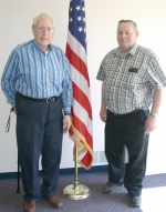 George Keplinger (left), commander of the Markle VFW Post 6671, and Larry Enyeart, senior vice commander, are looking for more local members to join their VFW post. The post has started an incentive program which will save new members  first year dues.
