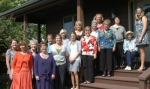 Members of the Froebel Club gather at the home of club President Jane Witt on Sept. 15 to celebrate the 100th anniversary of the club.