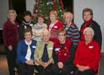 Charter members of the Gingham Gals Extension Homemakers Club celebrate the club's 50-year anniversary at a dinner at First Baptist Church in Warren.