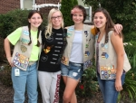 Four Girl Scouts in Troop 20083 have been in scouting together since Daisies, continuing through to the uppermost Ambassadors level. They are (from left) Grace Moser, Shania Brown, Lily Sabinske and Olivia Bowman. Their career as scouts will end in September, but they say they will continue as friends.