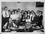The staff of The Hosdreg Company included (seated, from left) J.C. Monsey and Eloise Schenkel and (standing, from left) unknown, Marguerite Kocher, Kathryn Eviston Post, Bernita Eggers Schmalzried, Kenneth Devall, unknown, Evelyn Wolfcale Barnhisel, Esther Andrews, Tootie Hall, Vesta Baxter, unknown and Margaret Pastor.