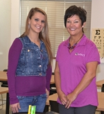 Alisha Morrical (left) has earned her high school equivalency diploma and starts CNA classes today as a first step toward a career in the medical field, thanks to the help of classes taught by Impact Institute instructor Laura Smart (right).