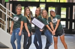 With a predicted job outlook of 32 percent, Huntington University's occupational therapy assistant baccalaureate program has been awarded the maximum years of accreditation possible for a program of its kind. Celebrating the occasion are HU OT students Lairen Miller, Bailey Funkhouser, Kaylee Garmire, Abby Matovich and Bailey O'Dell.