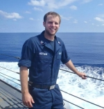 Landon Hoffman recently returned home to Huntington after serving in the United States Navy for six years, the last four coming in Southeast Asia aboard the USS John S. McCain.