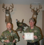 Jay Buzzard (left) and Steve Nevius are members on the board of the National Wild Turkey Federation Flint Springs chapter. The organization recently received state and national recognition for completion of a five-star program for community involvement.