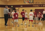 Play is about ready to commence during a game in a recent season of the KIM League, the Parkview Huntington Family YMCA's youth basketball program, which is celebrating its 50th anniversary this year.