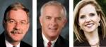(From left) State Rep. Dan Leonard, State Sen. Travis Holdman and State Sen. Amanda Banks.