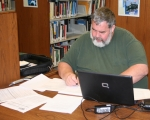 Huntington resident David Beaty works on his computer at the Huntington City-Township Library. The library is launching a program geared toward helping seniors increase their brain power through a variety of activities and creative experiences.