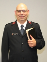 "Capt. Dennis Marak, of the Salvation Army's Huntington branch, will deliver the sermon during the Forks of the Wabash Pioneer Festival's worship service on Sunday, Sept. 23. at the Huntington County Fairgrounds. The service begins at 9 a.m. in the ""Opera House Saloon."""