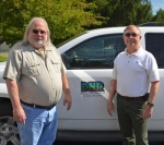 Marvin McNew (left) and Dennis White will retire from the Department of Natural Resources after 24 and 44 years of service respectively.