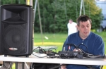 DJ Monte Sieberns, shown spinning the tunes during a dance in Andrews last month, fell in love with radio even before he started school.