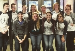 Eleven Huntington University students proceeded to carry out their plans of a mission trip to Paris, France, despite hearing of the terrorist attacks at the Charlie Hebdo magazine shortly before boarding the plane on Jan. 7. They are (front row, from left) Connor Knight-Morrow, Larissa Walker, Hannah Barrett, Caitlin Trainer, (second row, from left) Joshua Walker, Sam Barrett, Melanie Clemens, Maggie Gilliam, Lauren Frischman, Alyssa Eddy and Larkayla Mosley.