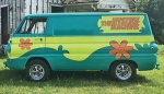 """A van resembling the Mystery Machine from """"Scooby-Doo"""" will be one of the many vehicles at this year's Rolling into Roanoke on Saturday, July 27, in downtown Roanoke and Roanoke Park. The Mystery Machine will be accompanied by several other famous cars from TV and film in the 1970s and beyond."""