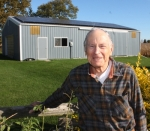 Richard Hollinger, of rural Huntington, says many people don't even notice the solar panels on the south side of his pole barn roof. Hollinger has saved hundreds of dollars on his electric bill since having the system installed.