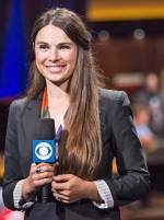 Tatjana Pasalic Karr covers the Super High Roller Bowl at the Aria Resort and Casino in Las Vegas, NV, for CBS Sports in 2016. Karr now works for Joseph Decuis, in Roanoke, but prior to that, she spent 10 years covering poker professionally around the world.