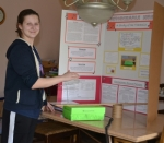 Jessica Hartmus plays the theremin, a science fair project that won the attention of the Society of Women Engineers as well as a request to develop a conveyor system suitable for use in a brick-making factory in Uganda.