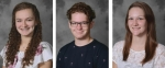 Huntington North High School recently named its valedictorian and salutatorian for the class of 2020. Jessica Smith (left) is the valedictorian, while Logan Bolding (center) and Haleigh Nissley share the salutatorian spot.
