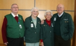 The Stricklers and Birdsalls are just two of 16 couples who volunteer their time at Parkview Huntington Hospital. Pictured (from left) are Rocky Strickler, Carol Strickler, Nellie Birdsall and Russell Birdsall.