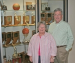 Debbie (left) and Joe Wiley are retiring from heading up the Huntington North Viking Pride Adult Booster Club after spending more than 27 years working with the organization.