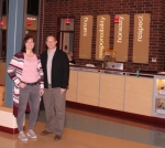 Jill Gradeless (left) and Todd Latta, the senior program director and associate executive director, respectively, at the Parkview Huntington Family YMCA, pause from their work at the facility on Monday, Nov. 5. Today, Thursday, Nov. 8, the YMCA celebrates 10 years in its new building. Photo by Steve Clark.