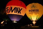 The balloon glow, part of the Hot Air Balloon Fest at Huntington Municipal Airport, is one of the returning events for the first weekend of the Heritage Days festival in Huntington.