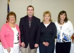 The newly-elected Huntington County Republican Party board is made up of (from left) Gennie Guhl, vice chairman; Kris Underwood, party chairman; Kathy Juillerat, treasurer; and Tina Stevens, secretary.