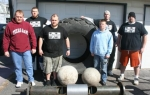 "Members of ""The Tribe: Huntington Strongman Athletles"" are (front row from left) Scott Smith, Nate Falcone and Bryce Davis and (back row from left) Aaron Snider, Chris Schuman and Gabe Rice."