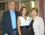 Huntington North High School valedictorian Kaitlyn Batt (center) is shown with her parents, Greg and Karen Batt. Batt and salutatorian Tayah Kline were recognized Tuesday, May 12, during an honors breakfast at HNHS.