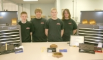 Huntington North High School vocational students (from left) Brian Bogner, Tony Sitton, Austin Clark and Michael Lewis recently participated in the Indiana Statewide Machines Trades Contest, where they won $4,550 in scholarships, tools and software.