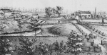 Above is the farm of A.T. Searles in 1879, which was located in Section 24 of Wayne Township. Searles was noted for his fine farm, and he was also the proprietor of the largest tile manufacturing company in the county at the time.