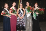 The 2019 Huntington County 4-H Fair Royalty Court is (from left) Rebecca Landers, who won the Spirit Award; second runner-up Sarah Landers; Royalty Champion Crosley Stanley; first runner-up Kennidy Lauer; and Danita Clark. The pageant took place Friday, July 12, in the First Merchants Bank Heritage Hall at the Huntington County Fairgrounds.