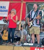 The band BackWater, shown here performing at last year's Andrews Summer Festival, will be back for this year's festival as well, playing Saturday night on the main stage.