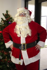 Santa Claus will pose for pictures with children at the first Andrews Christmas Celebration on Dec. 6.