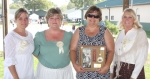 The Forks of the Wabash Pioneer Festival Arrowhead Award was presented Sunday, Sept. 27, to Cindy Klepper (third from left) and her late husband Denny Klepper for their volunteer efforts on behalf of the festival.