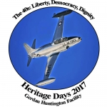The 2017 Heritage Days button is now available at the Huntington County Chamber of Commerce.