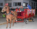 Jay Walters drives a horse-drawn wagon through a downtown Warren street during last year's Holiday Walk and Festival of Trees. Horse-drawn wagon rides will again be offered at this year's event, which takes place on Friday evening, Nov. 21.