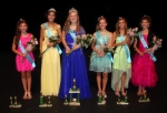 The Junior Miss Heritage Days court celebrates its victory on Wednesday night, June 18.