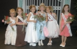 Little Miss Heritage Days Arianna Betterly (fourth from left) poses with her court.