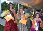 Winners in the Markle Wildcat Festival Princess pageant were (from left) Lacy Curry, Miss Wildcat; Juliana Small, Young Miss Wildcat; and Makiah Tracy, Little Miss Wildcat.