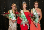 The court of the 2017 4-H Royalty contest includes (from left) second runner-up Karmen Koch; royalty champion Larissa Johnson; and first runner-up Josi Barscz. The contest was held Friday, July 14, at the iAB financial bank Heritage Hall on the Huntington County Fairgrounds.