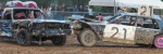 A car driven by Zac McGraw, of Portland, T-bones the car driven by Adam Dziabis, of Whitley County, during the 2015 Roanoke Fall Festival Demolition Derby. The event returns this year on Saturday, Sept. 10, at Roanoke Park.