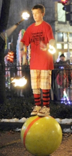 """""""The Class Clown: Brady Wegener"""" will be one of the featured acts at the Renaissance Faire, presented by the Huntington Jaycees, May 27 through May 31. Wegener's repertoire includes juggling fire, knives and rubber chickens."""